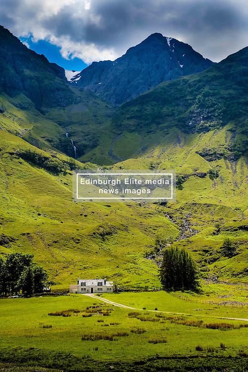A house in Glencoe near the shore of Loch Achtriochtan, Highlands of Scotland<br /> <br /> (c) Andrew Wilson | Edinburgh Elite media