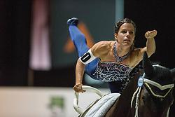 Carola Sneekes, (NED), Nolan, Marjo Sneekes - Individuals Women Compulsory Vaulting - Alltech FEI World Equestrian Games™ 2014 - Normandy, France.<br /> © Hippo Foto Team - Jon Stroud<br /> 02/09/2014