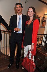 TOM & LADY IONA HEWITT at a party to celebrate the launch of the new Mauritius Collection of jewellery by Forbes Mavros held at Patrick Mavros, 104-106 Fulham Road, London SW3 on 5th July 2011.