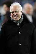 Philadelphia Eagles owner Jeffrey Lurie laughs during a sideline visit before the NFL NFC Wild Card football game against the New Orleans Saints on Saturday, Jan. 4, 2014 in Philadelphia. The Saints won the game 26-24. ©Paul Anthony Spinelli