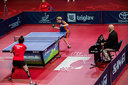 Korkut Kubra of Turkey and Van Zon Kelly of Netherlands play final match during Day 4 of SPINT 2018 - World Para Table Tennis Championships, on October 20, 2018, in Arena Zlatorog, Celje, Slovenia. Photo by Vid Ponikvar / Sportida