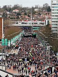 A general view of Wembley Way as fans arrive at Wembley Stadium - Mandatory by-line: Matt McNulty/JMP - 26/02/2017 - FOOTBALL - Wembley Stadium - London, England - Manchester United v Southampton - EFL Cup Final