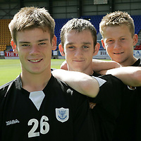 St Johnstone youth players/groundstaff, from left, John Black, Ross Fox and Steven Doris.<br />Picture by Graeme Hart.<br />Copyright Perthshire Picture Agency<br />Tel: 01738 623350  Mobile: 07990 594431