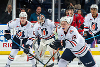 KELOWNA, BC - MARCH 09:  Dylan Garand #30 of the Kamloops Blazers defends the net against the Kelowna Rockets at Prospera Place on March 9, 2019 in Kelowna, Canada. (Photo by Marissa Baecker/Getty Images)