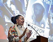 Photography &copy;Mara Lavitt<br /> New Haven, CT<br /> January 24, 2018<br /> <br /> The Martin Luther King, Jr. Lecture at Yale 2018 was held at Battell Chapel and featured activist and filmmaker Bree Newsome.