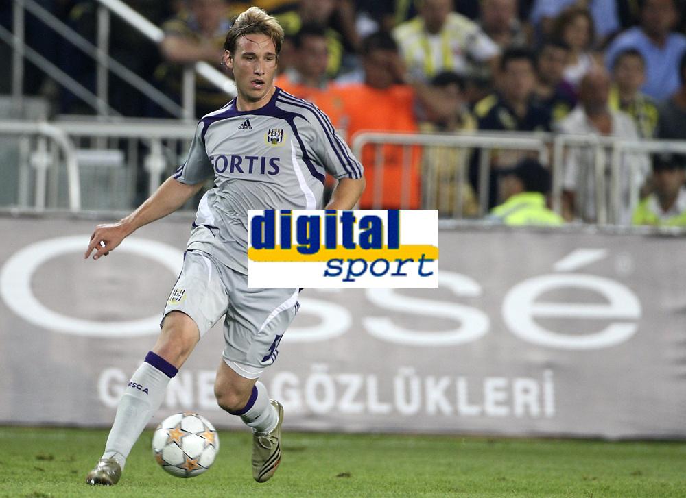 Fotball<br /> Belgia<br /> Kvalifisering UEFA Champions League<br /> 15.08.2007<br /> Fenerbahce v Anderlecht<br /> Foto: PhotoNews/Digitalsport<br /> NORWAY ONLY<br /> <br /> LUCAS BIGLIA