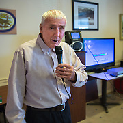 "MANASSAS, VA - NOV21:  George Moseley sings ""Yellow Submarine"", during karaoke at Birmingham Green, an elder care residence in Manassas, VA, November 21, 2014. With the U.S. population aging and Alzheimer's more widespread, science is looking for ways to slow or delay the onset of dementia in aging Americans. Among the approaches is trying to determine whether art, music and dance or movement can also alleviate the problems attendant with dementia. The federal government is funding a study at Birmingham Green with George Mason University to see whether there is a scientific basis to believe that art is actually medically beneficial. (Photo by Evelyn Hockstein/For The Washington Post)"