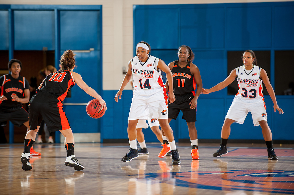 Nov. 30, 2013; Morrow, GA, USA; Clayton State University's women's forward Yishica Sims during the game against Tusculum University at CSU. CSU won 89-61. Photo by Kevin Liles / kevindliles.com