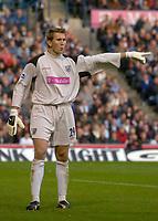 Photo: Glyn Thomas.<br />West Bromwich Albion. Newcastle Utd. The Barclays Premiership. 30/10/2005.<br /> West Brom keeper Tomasz Kuszczak.