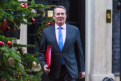 London, December 18 2017. Secretary of State for International Trade Liam Fox leaves 10 Downing Street following a meeting of Prime Minister Theresa May's 'Brexit Cabinet'. © Paul Davey