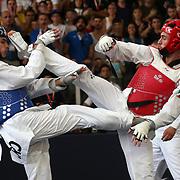 Roma 03/06/2018 Stadio Pietrangeli<br /> World Taekwondo Gran Prix<br /> Uomini -80 Kg<br /> Roberto Botta ( rosso )