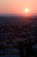 El Paso sunrise from Scenic Drive, Mount Franklin, Texas.
