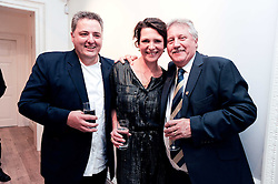 Left to right, RICHARD CORRIGAN, THOMASINA MIERS and BRIAN TURNER at a party to celebrate the launch of Page One an online guide to London's 100 most rewarding restaurants held at the Halcyon Gallery, Bruton Street, London on 7th July 2010.