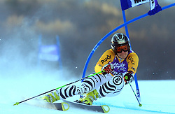 Fourth placed after first run Kathrin Hoelzl of Germany skiing in first run of Maribor women giant slalom race of Audi FIS Ski World Cup 2008-09, in Maribor, Slovenia, on January 10, 2009. (Photo by Vid Ponikvar / Sportida)