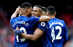 Luis Antonio Valencia of Manchester United celebrates with teammates after scoring a goal - Mandatory by-line: Robbie Stephenson/JMP - 19/03/2017 - FOOTBALL - Riverside Stadium - Middlesbrough, England - Middlesbrough v Manchester United - Premier League