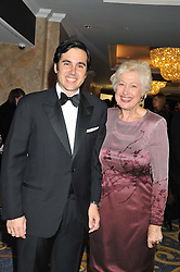 EDUARDO SANCHEZ-PEREZ and CAROLINE NEVILLE at the 20th CEW (UK) Achiever Awards 2012 - celebrating two decades of women, passion, beauty, held at the Hilton, park Lane, London on 16th October 2012.
