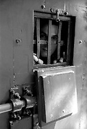 Roma 2000.Panoramica dal Gianicolo  del Carcere di Regina Coeli  .Detenuti in cella. Regina Coeli (Queen of Heaven) Prison.Prisoner in the cell