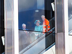Image ©Licensed to i-Images Picture Agency. 17/07/2014. Reading, United Kingdom. HM The Queen opens Reading Railway Satation . Picture by i-Images