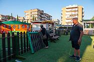 Ponte di Nona (Roma), 26/06/2020: Ferdinando della Santina e Susy Bacicalupi hanno un parco giochi da 10 anni che è fermo da ottobre 2019 a causa di problemi burocratici e poi per l'emergenza Covid 19.<br /> © Andrea Sabbadini