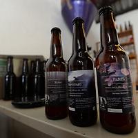 ZINACANTEPEC, México.- (Noviembre 07, 2017).- Claudio Miguel y Rubén Sosa, creadores de la cerveza Murciélago, forman parte de los 8 o 9 talleres que hacen cerveza artesanal en Toluca, buscan elaborando 2 mil botellas al mes. Agencia MVT / Crisanta Espinosa.