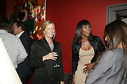Laura Bailey and Naomi Campbell, Party for Jean Pigozzi hosted by Ivor Braka to thank him for the loan exhibition 'Popular Painting' from Kinshasa'  at Tate Modern. Cadogan sq. London. 29 May 2007.  -DO NOT ARCHIVE-© Copyright Photograph by Dafydd Jones. 248 Clapham Rd. London SW9 0PZ. Tel 0207 820 0771. www.dafjones.com.