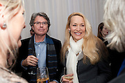 WARWICK HELMSLEY;  JERRY HALL , English National Ballet's party before performance of the ' The Nutcracker. St. Martin's Lane Hotel. London 14 December 2011.