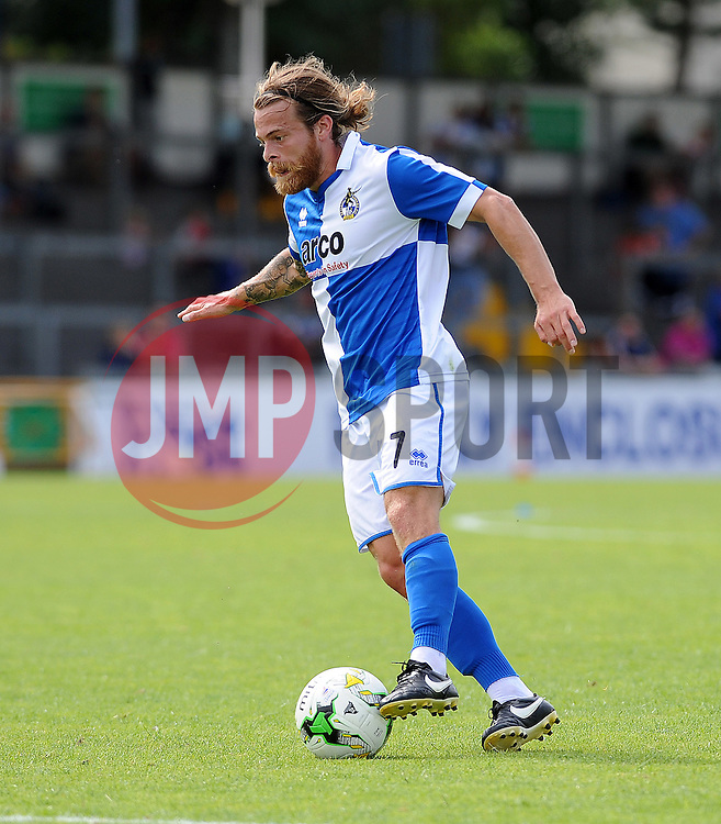 Stuart Sinclair of Bristol Rovers - Photo mandatory by-line: Neil Brookman/JMP - Mobile: 07966 386802 - 18/07/2015 - SPORT - Football - Bristol - Memorial Stadium - Pre-Season Friendly