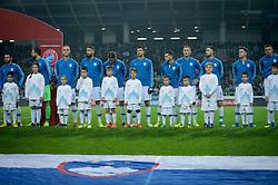 Team Slovenia during the 2020 UEFA European Championships group G qualifying match between Slovenia and Latvia at SRC Stozice on November 19, 2019 in Ljubljana, Slovenia. Photo by Sasa Pahic Szabo / Sportida
