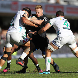 DURBAN, SOUTH AFRICA - MAY 19: Daniel Du Preez of the Cell C Sharks on attack during the Super Rugby match between Cell C Sharks and Chiefs at Jonsson Kings Park on May 19, 2018 in Durban, South Africa. (Photo by Steve Haag/Gallo Images)
