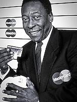 Brazil football legend Pele -celebrity face of MasterCard.<br /> Client<br /> Mastercard