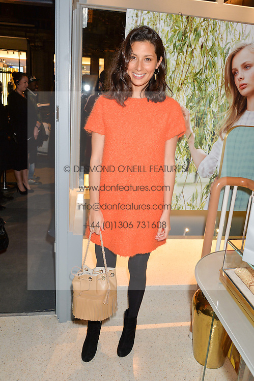 JASMINE HEMSLEY at the launch of the new J&M Davidson flagship shop at 104 Mount Street, London on 3rd February 2016.