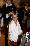 Carolina de Laurentiis, Getting ready before the  Thirteenth Annual Crillon Haute Couture Ball. Paris,  29 November 2003. © Copyright Photograph by Dafydd Jones 66 Stockwell Park Rd. London SW9 0DA Tel 020 7733 0108 www.dafjones.com