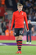Southampton defender Matt Targett (33) warm up during the Premier League match between Southampton and Brighton and Hove Albion at the St Mary's Stadium, Southampton, England on 17 September 2018.