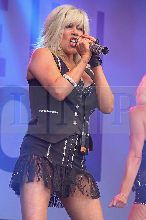 © Licensed to London News Pictures. 28/06/2014. London, UK  Samantha Fox. Pride in London 2014, London UK, 28 June 2014. Photo credit : Brett D Cove/piQtured/LNP