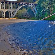 Haceta Head Bridge Vertical - Oregon Coast - HDR