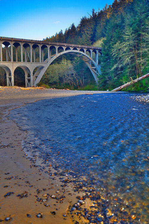 Haceta Head Bridge Vertical - Oregon Coast - HDR