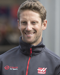 October 21, 2018 - Austin, USA - Haas driver Romain Grosjean (8) of France before the start of the Formula 1 U.S. Grand Prix at the Circuit of the Americas in Austin, Texas on Sunday, Oct. 21, 2018. (Credit Image: © Scott Coleman/ZUMA Wire)