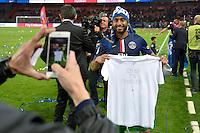 Lucas Moura - PSG Champion - 23.05.2015 - PSG / Reims - 38eme journee de Ligue 1<br /> Photo : Andre Ferreira / Icon Sport