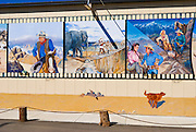 Western films mural at the Beverly and Jim Rogers Museum, Lone Pine, California USA