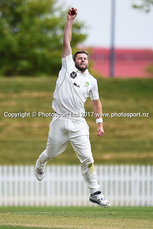 Stags Bevan Small during Day 3 of their Plunket Shield cricket match Auckland Aces v Central Stags. Saxton Oval, Nelson, New Zealand. Wednesday 1 November 2017. ©Copyright Photo: Chris Symes / www.photosport.nz