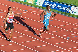 RODRIGUEZ RODRIGUEZ Dionibel, KOUTIKI TSILULU Ruud Lorain Flovany, 2014 IPC European Athletics Championships, Swansea, Wales, United Kingdom
