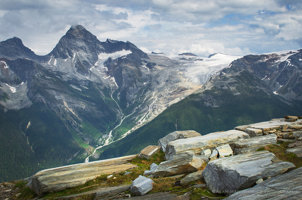 Mount Sir Donald and seen from Abbott Ridge. Selkirk Mountains Glacier National Park British Columbia