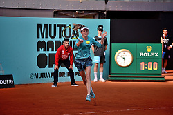 May 4, 2019 - Madrid, Spain - Aliaksandra Sasnovich (BLR) vs Anett Kontaveit (EST) during day one of the Mutua Madrid Open at La Caja Magica  in Madrid on 4th May, 2019. (Credit Image: © Juan Carlos Lucas/NurPhoto via ZUMA Press)