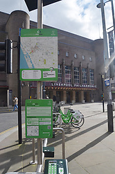 Citybike cycle hire scheme, Liverpool, March 2016