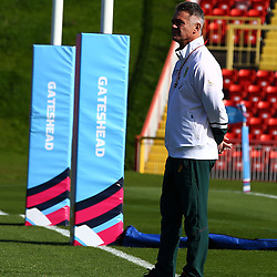 GATESHEAD, ENGLAND - SEPTEMBER 29: Heyneke Meyer (Head Coach) of South Africa during the South African national rugby training session at Gateshead International Stadium on September 29, 2015 in Gateshead, England. (Photo by Steve Haag/Gallo Images)