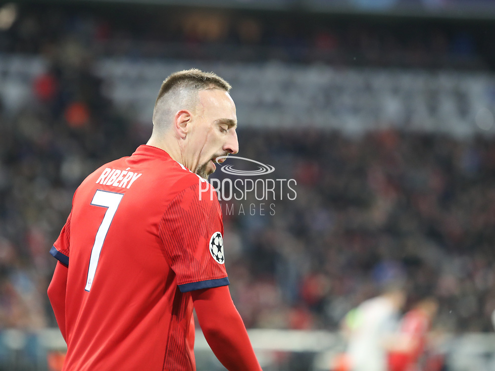 Frank Ribery of Bayern Munich disappointed during the Champions League round of 16, leg 2 of 2 match between Bayern Munich and Liverpool at the Allianz Arena stadium, Munich, Germany on 13 March 2019.