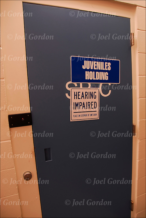 Juveniles in holding cell in theJuvenile Justice Center, Ninth Judicial Circuit Court of Florida either waiting to be called before the judge or waiting to be returned to the juvenile detention center in Orlando FL