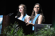 Synergy -r Bridging. Young adult leaders (left) Elissa McDavid and Jennifer Channin (check spelling).© 2012 Nancy Pierce/UUA
