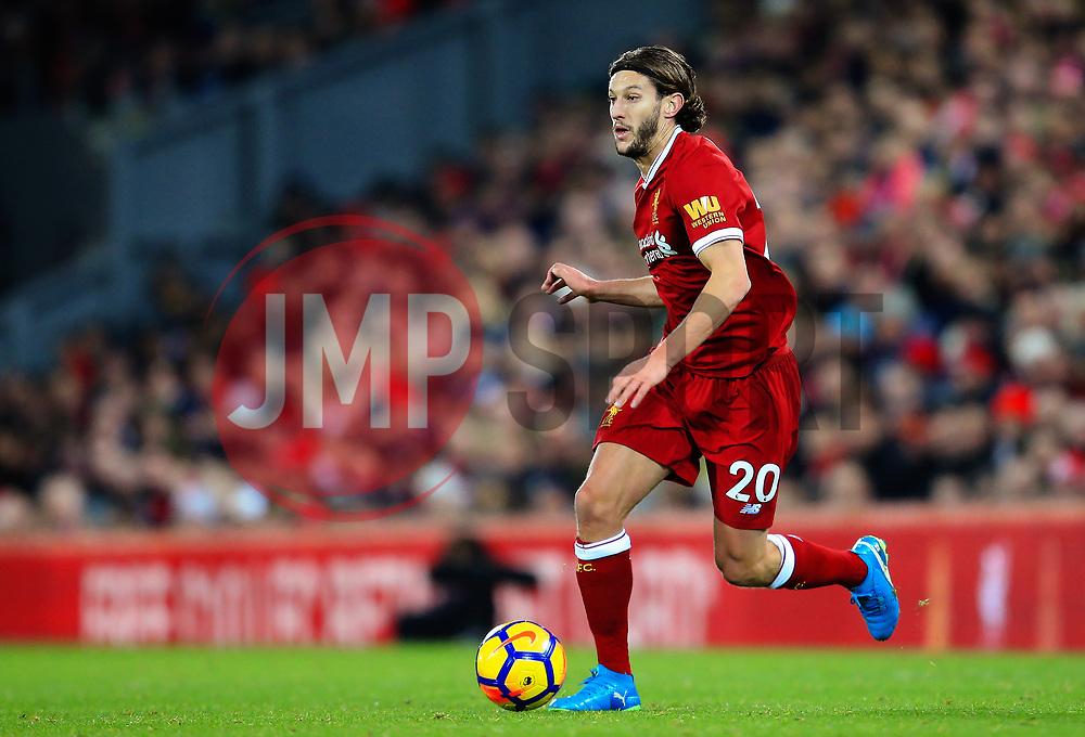 Adam Lallana of Liverpool attacks - Mandatory by-line: Matt McNulty/JMP - 26/12/2017 - FOOTBALL - Anfield - Liverpool, England - Liverpool v Swansea City - Premier League