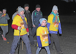 Teresa, Ella and Mary Gallagher from Mulranny enjoying Pieta House Darkness Into Light Walk in Westport this morning.<br /> Pic Conor McKeown